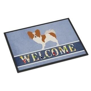 Carolines Treasures BB8310JMAT Papillon Welcome Indoor or Outdoor Mat - 24 x 36 in.