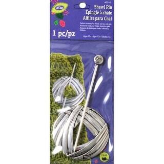 LoRan Shawl Stick Pin-Round Yarn Design With Silver Finish