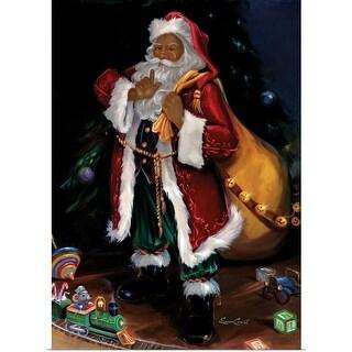 Susan Comish Poster Print entitled African American Santa - multi-color