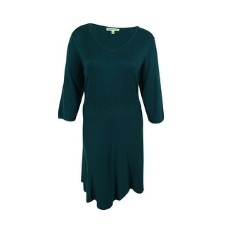 Spense Women's 3/4 Sleeves Sweater Dress - 1x