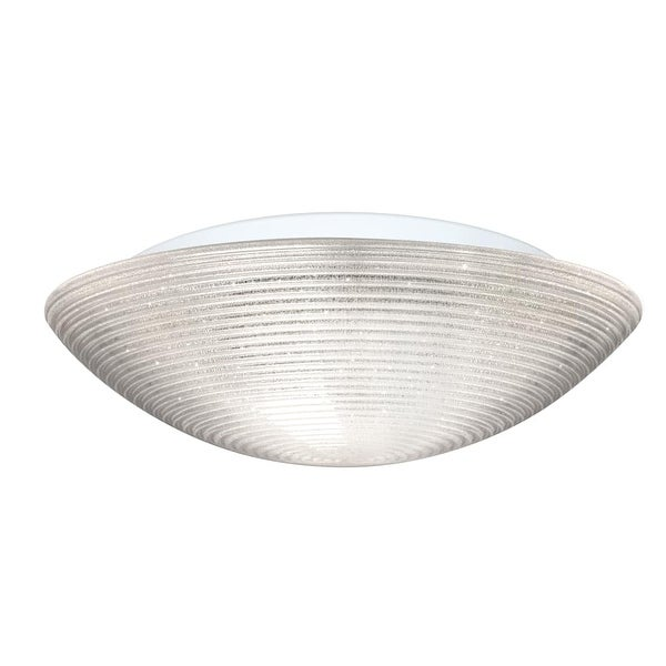 Besa Lighting 9116GLC Glitter 3-Light Flush Mount Ceiling Fixture with Glitter Shade - N/A