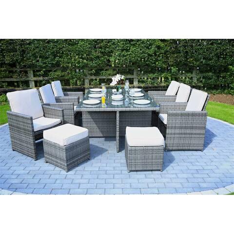 Martinka Wicker Outdoor 11-piece Patio Dining Set