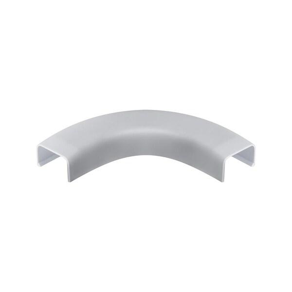 """Wire Trak Flat Elbow for Raceway PVC White, 3/4"""" W x 1/2"""" H"""