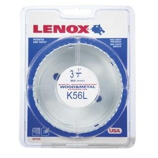 """Lenox 1772012 Bi Metal Hole Saw, White, 3-1/2 """" Dia 1-1/2 """" Depth Cut"""