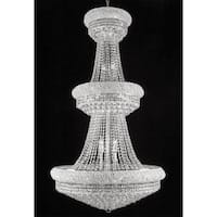 Swarovski Crystal Trimmed Chandelier Lighting Silver With 32 Lights