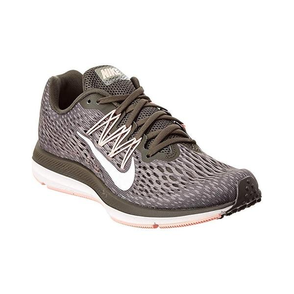 super popular d5a71 4167d Nike Women Air Zoom Winflo 5 Running Shoes Newsprint Summit White-Dark  Stucco,