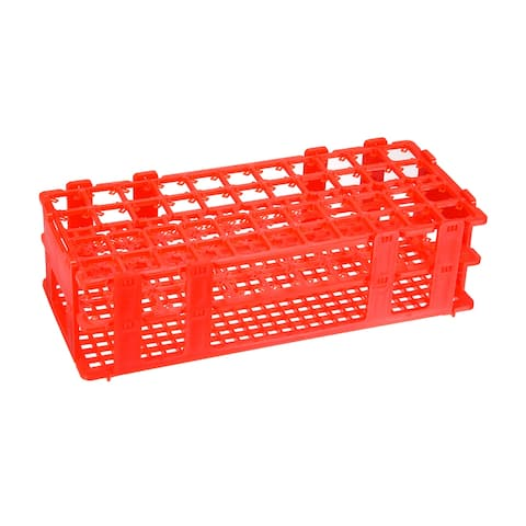 Tube Rack Detachable Polypropylene 44-Well Red for 10ml/15ml 2Pcs