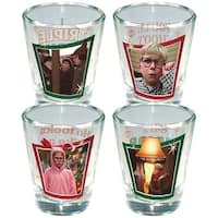 A Christmas Story Full Color Shot Glass 4-Pack - Multi