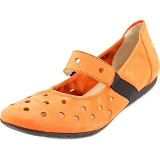 Sabrinas London V16 Women Round Toe Leather Orange Mary Janes