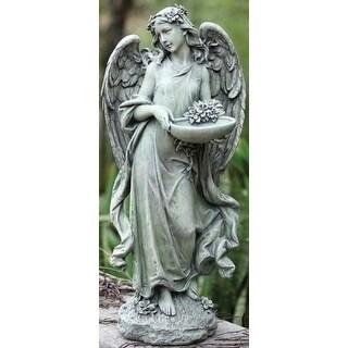 """Set of 2 Joseph's Studio Angel Bird Feeder / Bath Outdoor Garden Statues 15.75"""""""