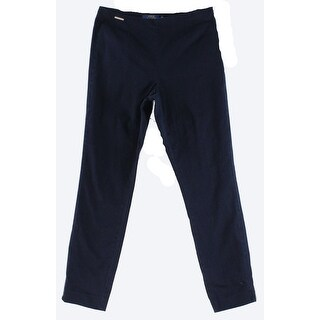 Polo Ralph Lauren NEW Navy Blue Womens Size 12 Stretch Skinny Pants