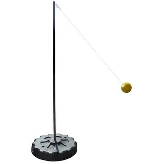 Verus Sports Portable Tetherball Set with Soft Touch Tetherball and Ground Stakes - Black