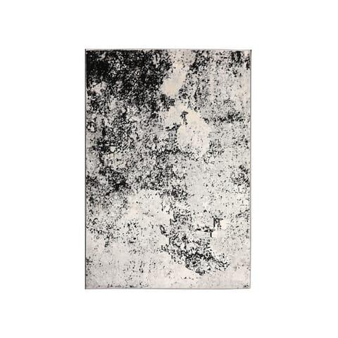 LoomBloom Persian Polypropylene Winter Modern & Contemporary Oriental Area Rug Gray, Ivory Color