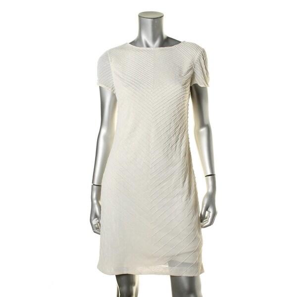 Lauren Ralph Lauren Womens Cocktail Dress Georgette Beaded