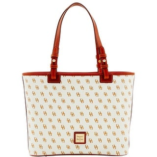 Dooney & Bourke Gretta Small Leisure Shopper (Introduced by Dooney & Bourke at $198 in Mar 2014) - white tan
