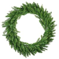 "48"" Eastern Pine Artificial Christmas Wreath - Unlit - Green"