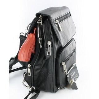 Black Leather R/L Locking Concealment Purse / Backpack