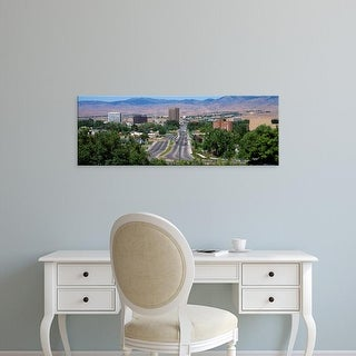 Easy Art Prints Panoramic Images's 'High angle view of a city, Boise, Ada County, Idaho, USA' Premium Canvas Art