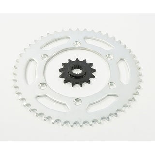 13 Tooth Front and 47 Tooth Rear Silver Sprocket Suzuki DR-Z400 2000 - 2003