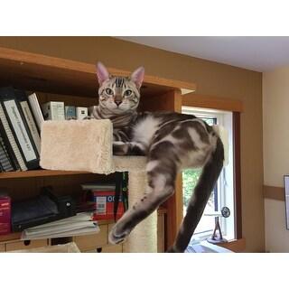 OxGord Beige 72-inch Cat Tree Tower Condo Scratching Furniture