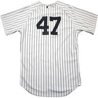 Ivan Nova Jersey  NY Yankees 2013 Season Game Used 47 Pinstripe Jersey  0000002383 Size 50 EK689231