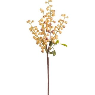"""Club Pack of 24 Holiday Decorative Indoor Burnt Yellow Berry Pick 18.5""""H"""
