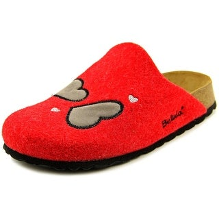 Betula House Youth N Round Toe Canvas Red Mules