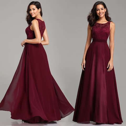 Ever-Pretty Womens Lace Chiffon Formal Evening Party Bridesmaid Dress 76953