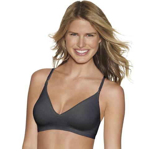 Hanes Comfy Support ComfortFlex Fit® Wirefree Bra - Size - XL - Color - Gravel Grey Heather