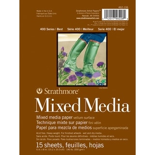"""Strathmore Mixed Media Vellum Paper Pad 6""""X8""""-15 Sheets"""