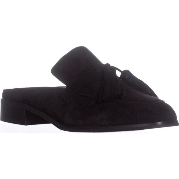 Aquatalia Stella Slip On Tassle Loafers, Black - 9.5 us