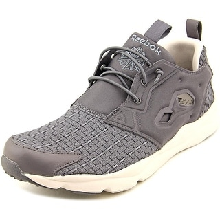 Reebok Furylite New Woven Men Round Toe Canvas Gray Running Shoe