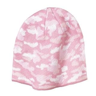 Port & Company Camo Beanie Cap, Pink
