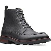 Clarks Men's Whitman Hi Ankle Boot Black Leather