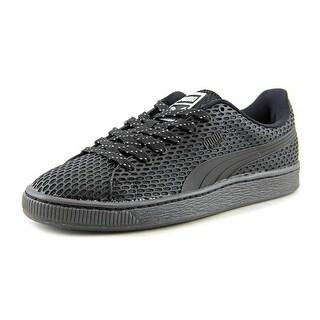 Puma Basket TPU Kurim Youth Round Toe Synthetic Black Sneakers