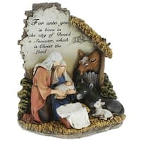 Unto You a Savior is Born 10 inch Christmas Nativity Scene Sculpture Figurine