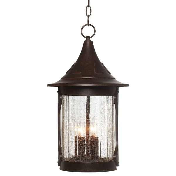 "Designers Fountain 20934-CHN 4-Light 11"" Cast Aluminum Hanging Lantern from the Canyon Lake Collection - chestnut - n/a"