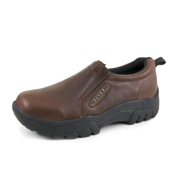 Roper Western Shoes Mens Sport Slip On Brown