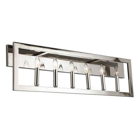 Jordan 6-light Satin Nickel Bath and Vanity Light