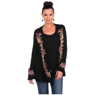 Stetson Western Sweater Womens Cardigan Black 11-038-0513-0735 BL