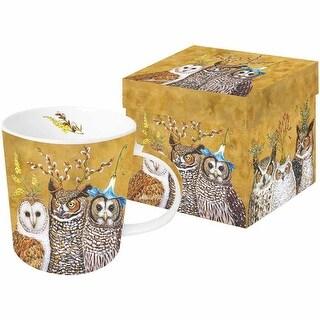 Bicki Sawyer Woodsy & Wise Coffee Mug - Fine China - Owl Family