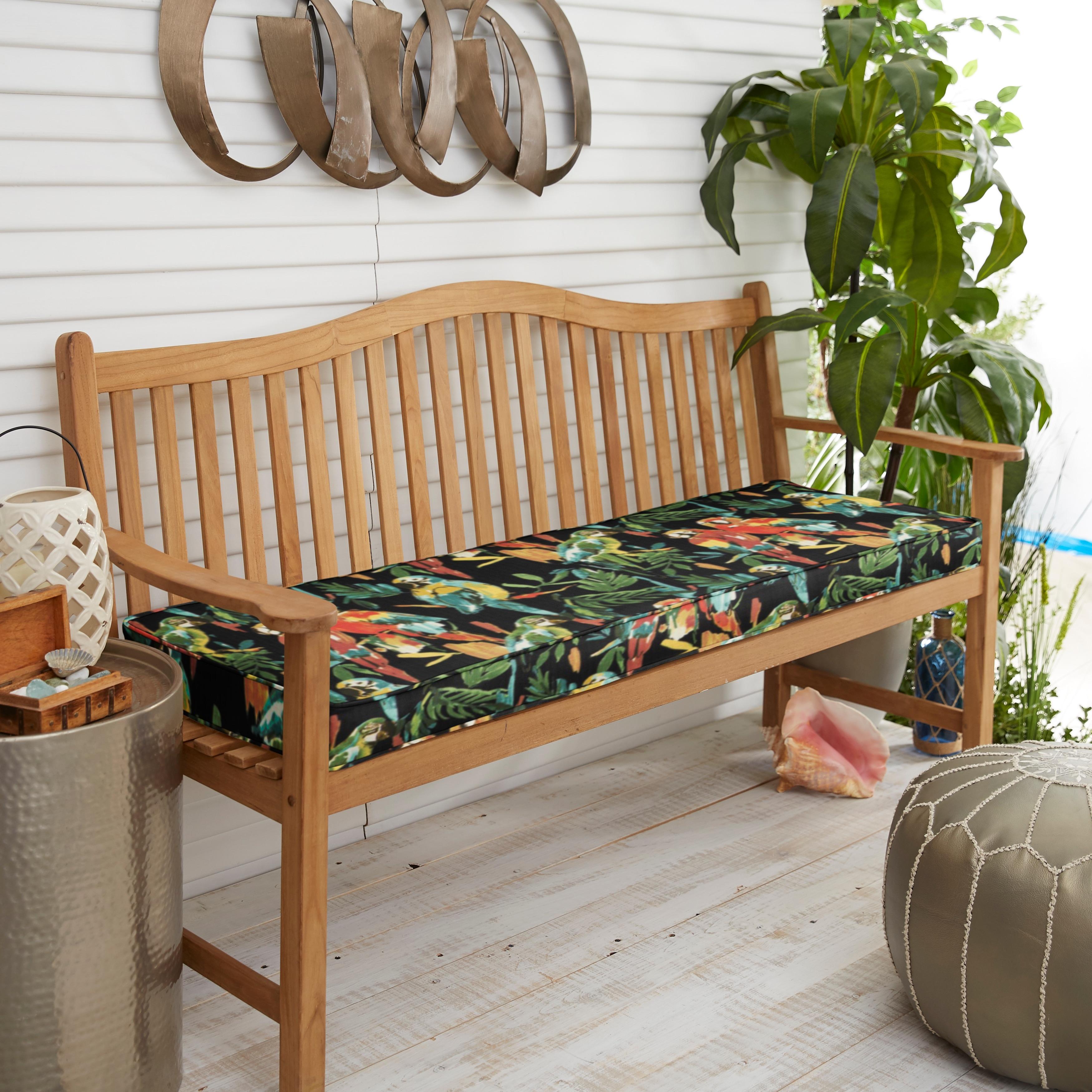Indoor Outdoor Develin Hightown Amazon Corded Bench Cushion Overstock 31270865