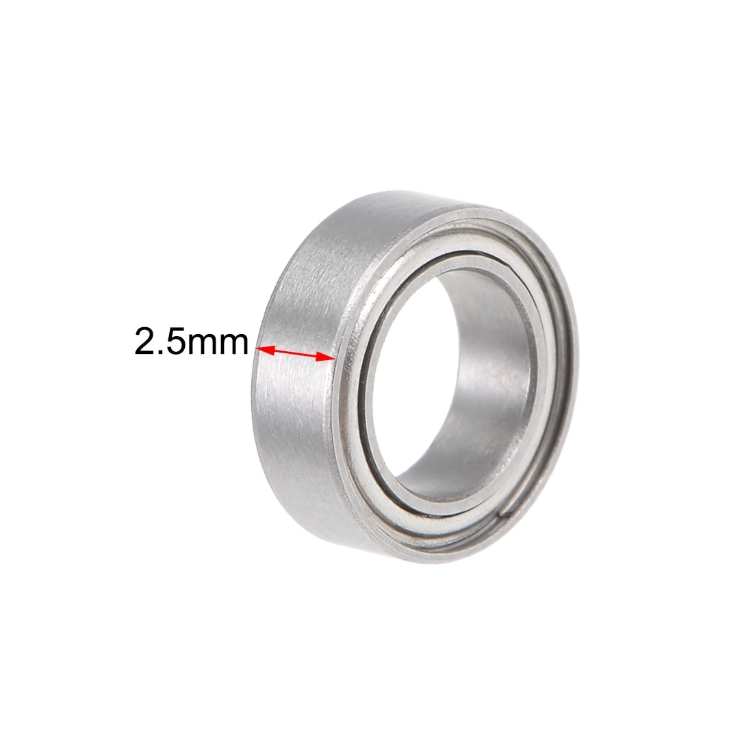 3x6x2.5 mm 5 PCS MF63zz Flange Metal Double Shielded Ball Bearing Bearings