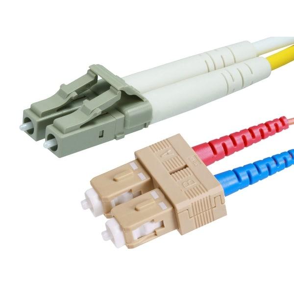 Monoprice Fiber Optic Cable, LC/SC, OM2, Multi Mode, Duplex - 15 meter (50/125 Type) - Orange