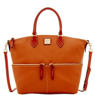 Dooney & Bourke Pebble Grain Large Pocket Satchel (Introduced by Dooney & Bourke at $298 in Sep 2016) - Caramel
