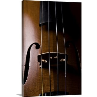 """Close-up of cello"" Canvas Wall Art"