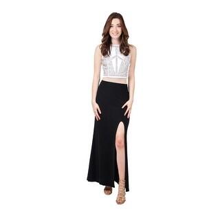 Two Piece Beaded Jersey Dress