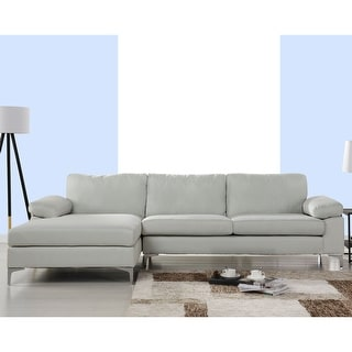 Link to Modern Large Linen L-shaped Sectional Sofa with Wide Chaise Similar Items in Living Room Furniture Sets