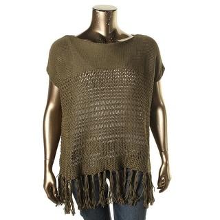Polo Ralph Lauren Womens Pullover Sweater Open-Knit Fringe - XL