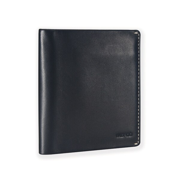 Ikepod Slim Carry Wallet (Black of 7 Colour)[Italy Made // Top Leather] [RFID Blocking and Slim Stitching!]